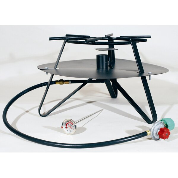 Heavy Duty Jet Burner Outdoor Cooker Package with Baffle and Flat Bar Legs by King Kooker