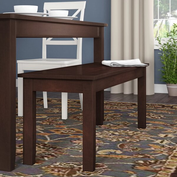 Braselton Wood Bench by Charlton Home