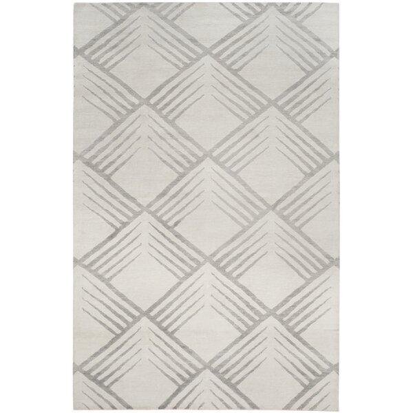Pawlak Robert Hand-Knotted Gray Area Rug by Brayden Studio