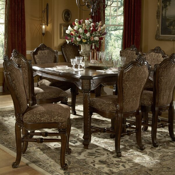 Windsor Court 9 Piece Solid Wood Dining Set by Michael Amini