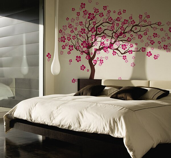 Pop Decors Cherry Blossom Tree Wall Decal Reviews Wayfair - Wall decals of trees