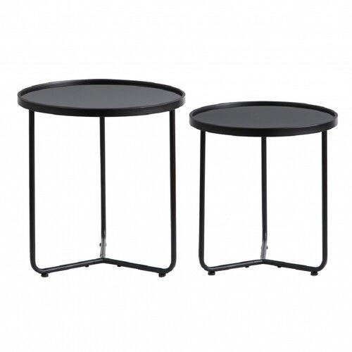 2 Satztische Nichole ModernMoments Farbe (Tischgestell): Schwarz   Wohnzimmer > Tische > Satztische & Sets   ModernMoments