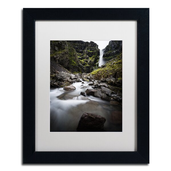Double Falls by Philippe Sainte-Laudy Framed Photographic Print by Trademark Fine Art