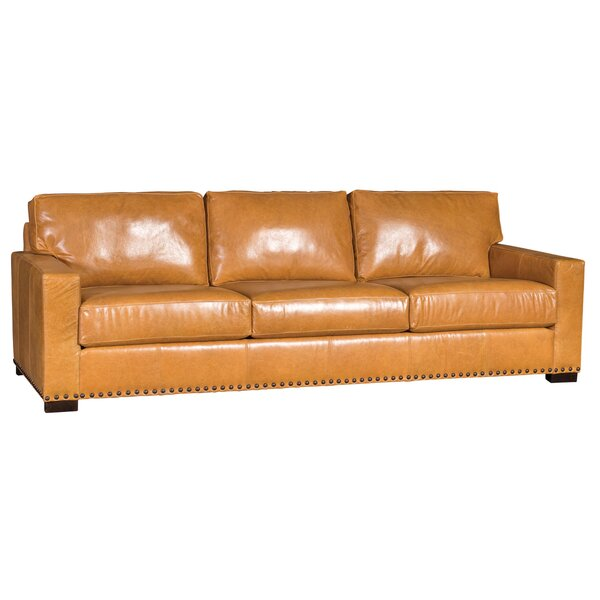 Traylor Leather Sofa by Loon Peak