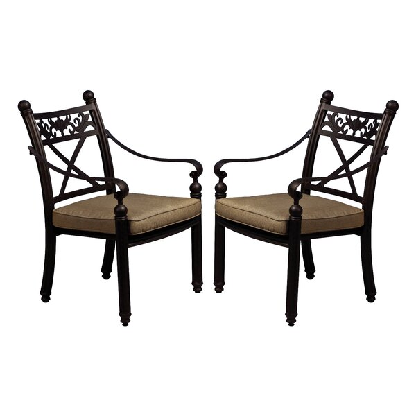 Baldwin Stacking Patio Dining Chair with Cushion (Set of 2) by California Outdoor Designs