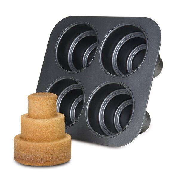 Non-Stick Square Multi Tier Cake Pan by Chicago Metallic