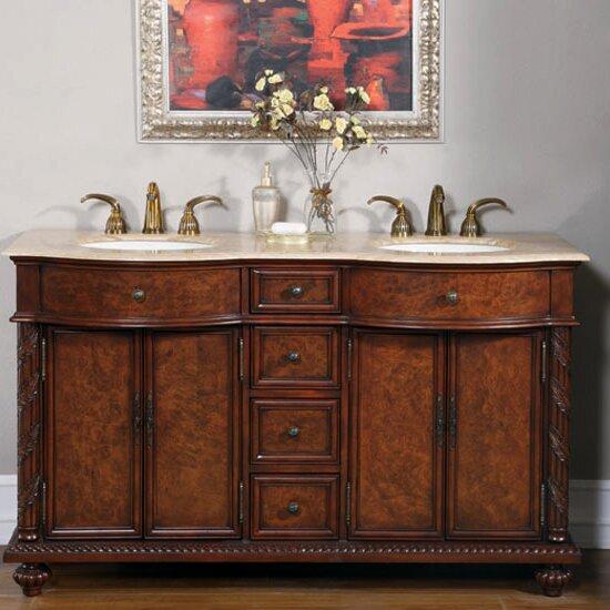 Tioga 60 Double Bathroom Vanity Set by Astoria Grand