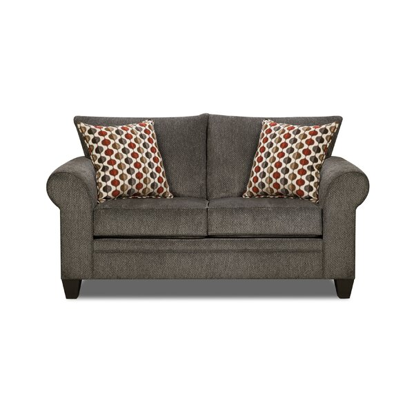 Degory Modern Loveseat by Simmons Upholstery by Alcott Hill