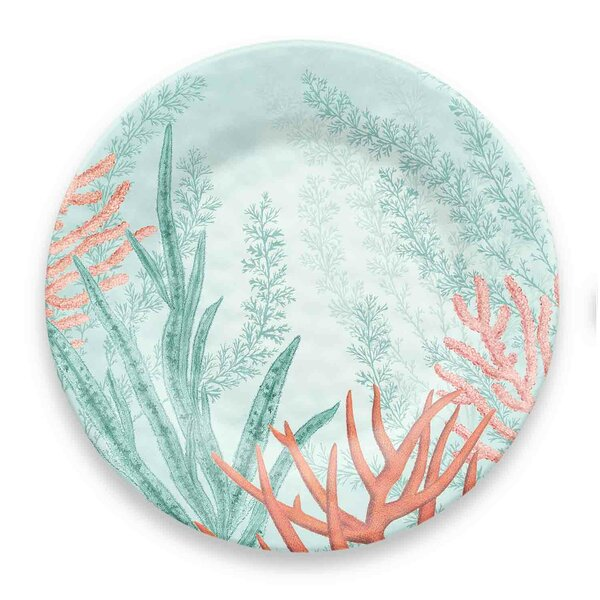 Canto Coral Reef Melamine Dinner Plate (Set of 6) by Highland Dunes