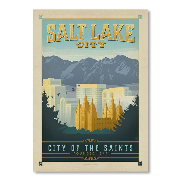 Salt Lake City Vintage Advertisement by East Urban Home