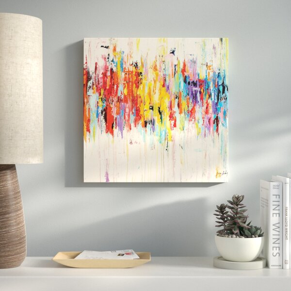 Abstract Rainbow Painting Print on Wrapped Canvas by Latitude Run