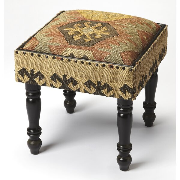 Cicely Jute Accent Stool by Loon Peak
