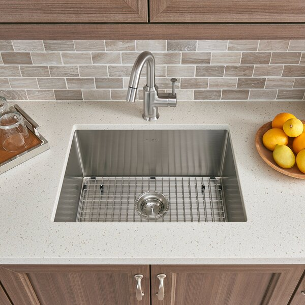 Pekoe 23 L x 18 W Single Bowl Undermount Kitchen Sink with Grid and Drain by American Standard