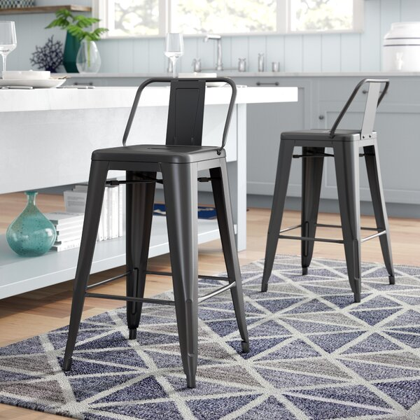 Derbyshire 24 Bar Stool (Set of 2) by Beachcrest Home