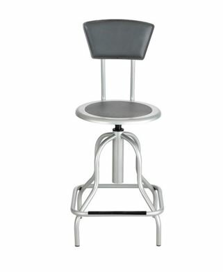 Height Adjustable Diesel Series Industrial Stool with Back by Safco Products Company