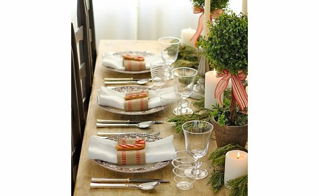 photo everyday occasions - Rustic Christmas Table Decorations