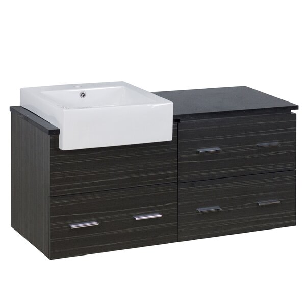 Hindman 49 Wall-Mounted Single Bathroom Vanity Set by Royal Purple Bath Kitchen