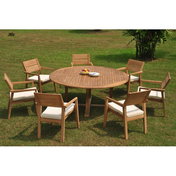 Enprise 8 Piece Teak Dining Set by Rosecliff Heights