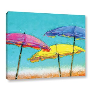 Vanilla Brellas Painting Print on Wrapped Canvas by Bay Isle Home