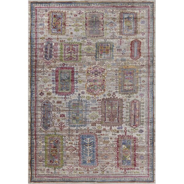 Vermillion Gray Area Rug by Charlton Home