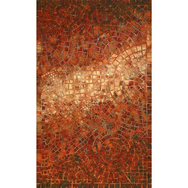 Alline Arch Tile Red Indoor/Outdoor Area Rug by Bloomsbury Market