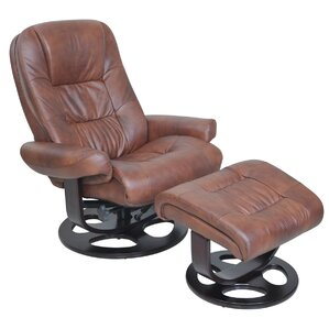 Jacque II Manual Swivel Recliner With Ottoman by Barcalounger