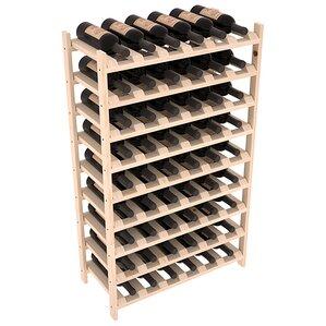 Karnes Pine Stackable 54 Bottle Floor Wine Rack by Red Barrel Studio