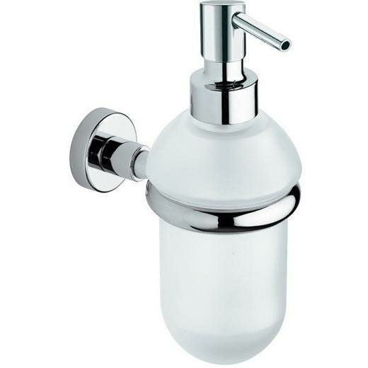 Snelson Wall Mounted Glass Pump Soap & Lotion Dispenser by Orren Ellis