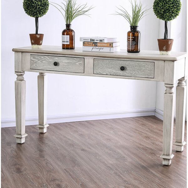 Woodcreek Wooden Turned Legs Console Table By Ophelia & Co.