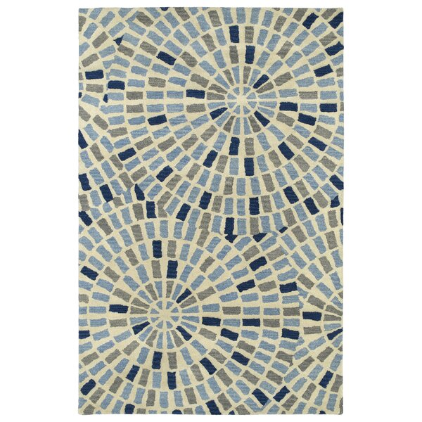 Marut Hand Tufted Blue/Beige Area Rug by Red Barrel Studio