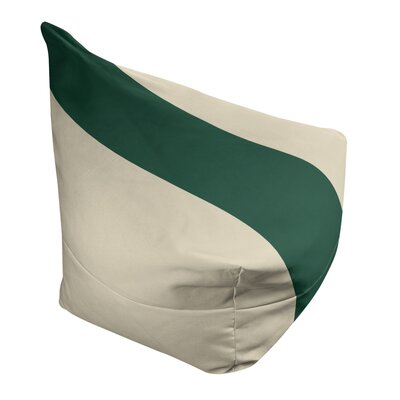"Bean Bag Cover East Urban Home Fabric: Minnesota Wheat/Forest Green, Size: 30"" H x 27"" W x 2"" D"