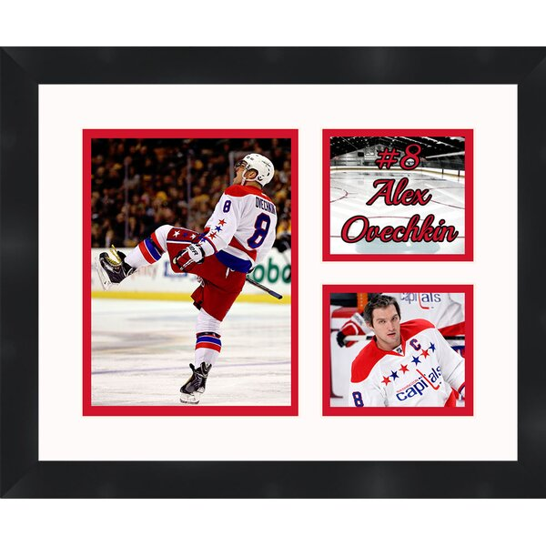 Washington Capitols Alex Ovechkin 8 Photo Collage Framed Photographic Print by Frames By Mail