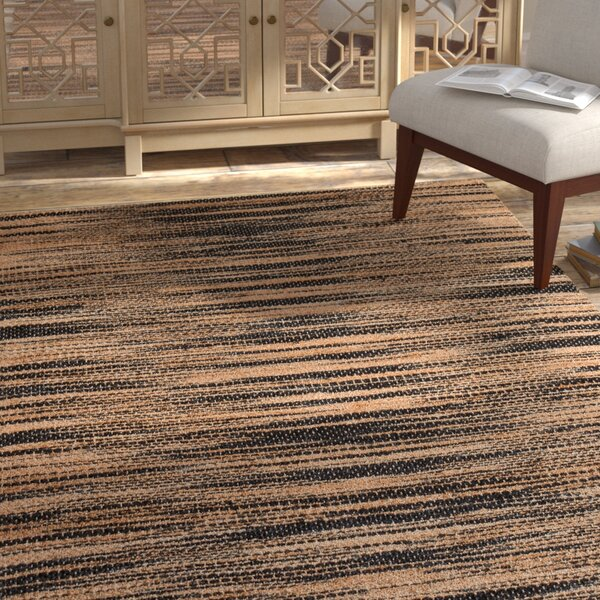 Chriseda Hand-Woven Golden/Gray Area Rug by Bloomsbury Market