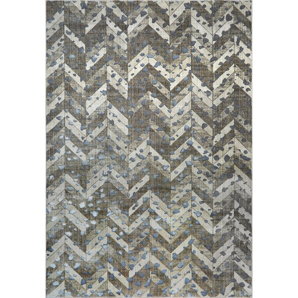 Nicole Miller Nagala Mahal Taupe Area Rug by Nicole Miller