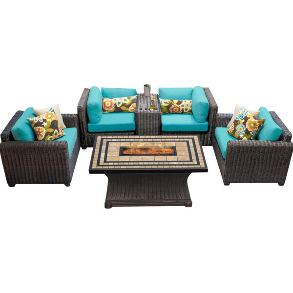 Fairfield 6 Piece Sectional Seating Group with Cushions by Sol 72 Outdoor