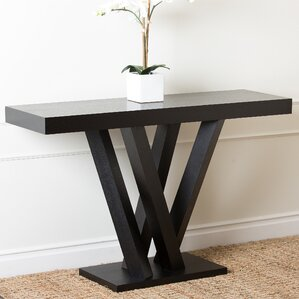 Brashear Espresso Wood Sofa Table by Orren E..