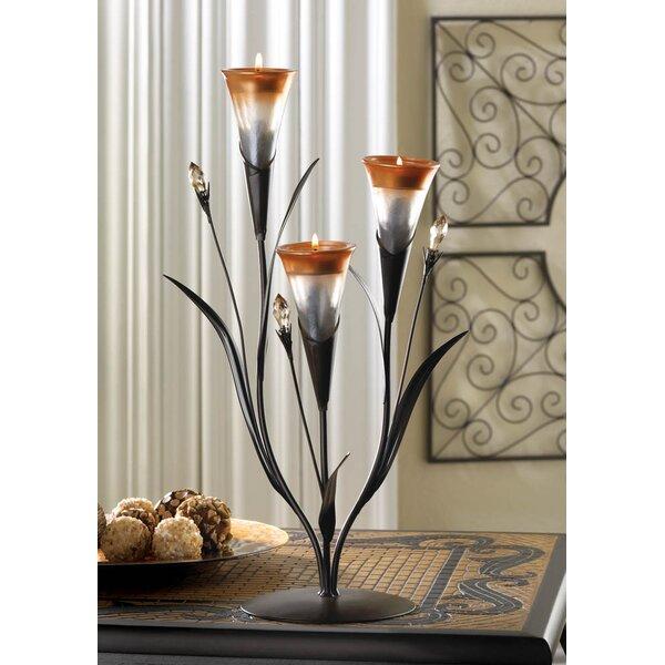 Lily Iron Candelabra by Fleur De Lis Living