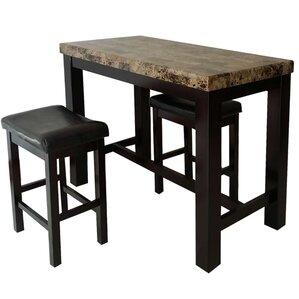 Earnshaw 3 Piece Pub Table Set by Alcott Hill