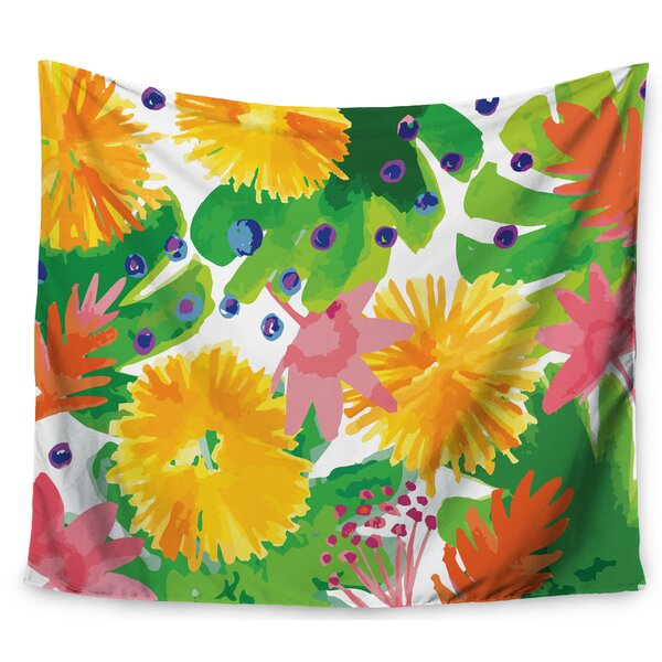 Billington Tropical Flowers Burst Tapestry and Wall Hanging by East Urban Home