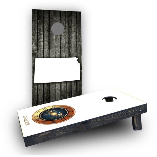 Zodiac White Cornhole Boards (Set of 2) by Custom Cornhole Boards