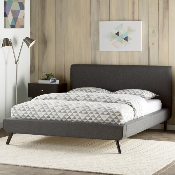 Delve Upholstered Platform Bed by Mercury Row