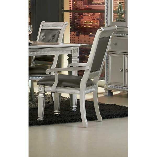 Julianne Upholstered Dining Arm Chair (Set of 2) by Rosdorf Park