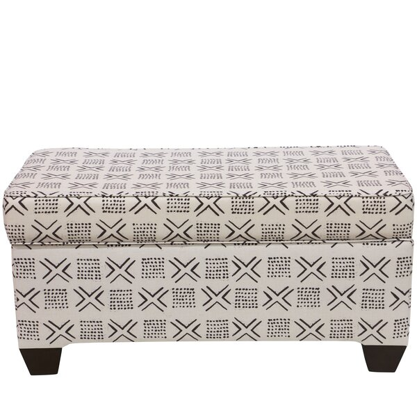 Frizzell Linen Upholstered Storage Bench by Bloomsbury Market