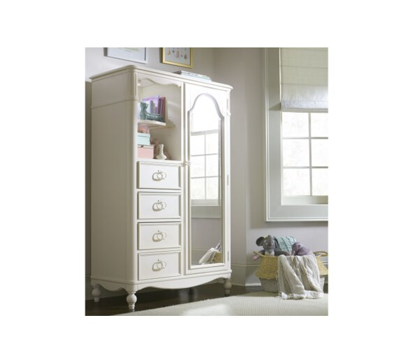 Harmony Mirrored Door Armoire by Wendy Bellissimo by LC Kids