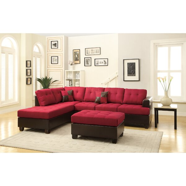 High-quality Silja Sectional with Ottoman by Winston Porter by Winston Porter