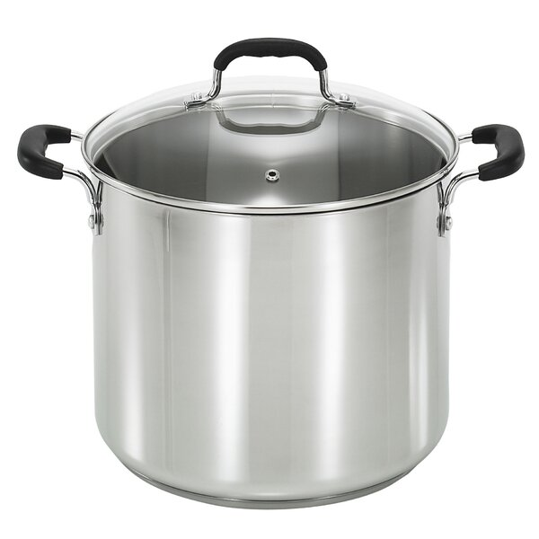 12 Qt. Stock Pot with Lid by T-fal