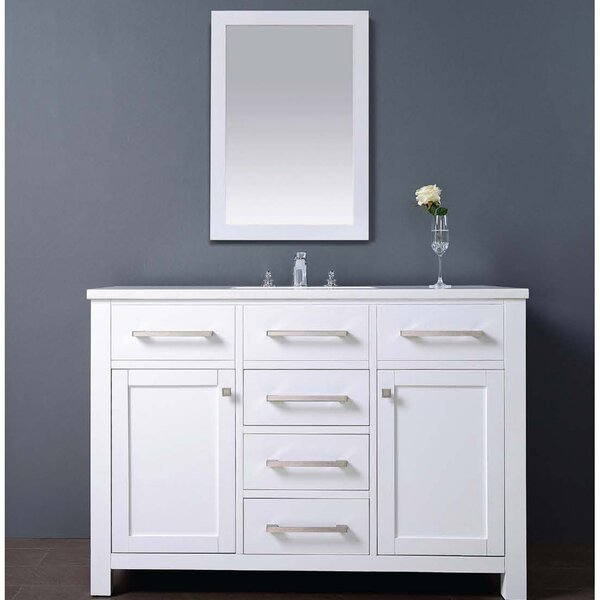 Milan 48 Single Vanity Set with Mirror by Dawn USA