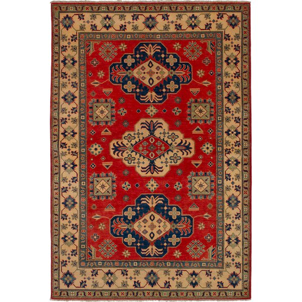 One-of-a-Kind Bernard Hand-Knotted Wool Copper/Red Area Rug by Bloomsbury Market