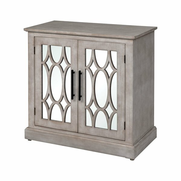 Bruno Hardy 2 Door Apothecary Mirrored Accent Cabinet By One Allium Way®