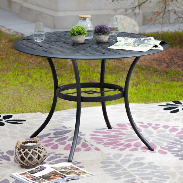 Shriver Metal Dining Table by Charlton Home